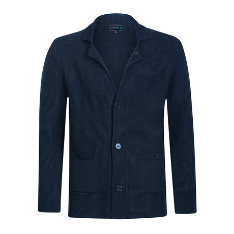 Fontana Knitwear Jacket // Light Navy (2XL)