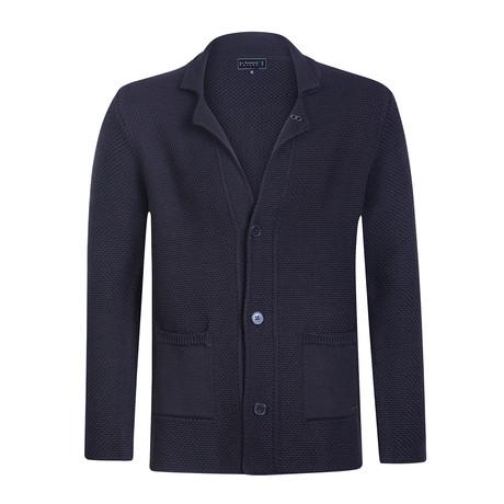 Fontana Knitwear Jacket // Navy (S)