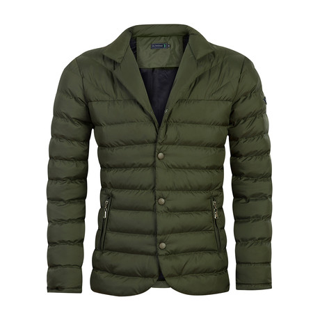 Bounce Autumn Coat // Army Green (2XL)