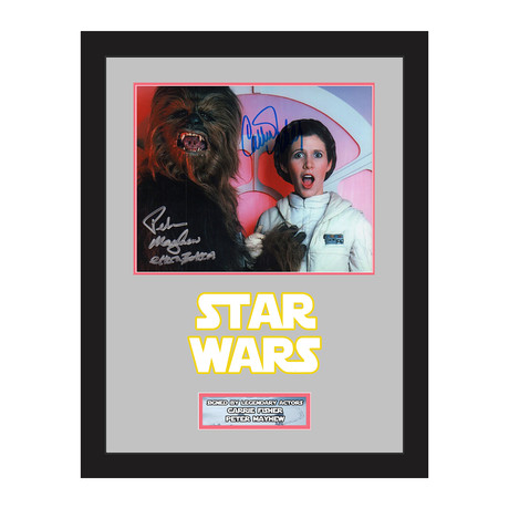 Carrie Fisher + Peter Mayhew
