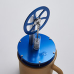 Ringbom Stirling Cycle Engine // Dark Blue