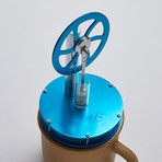 Ringborn Stirling Cycle Engine // Light Blue