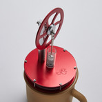 Ringborn Stirling Cycle Engine // Red