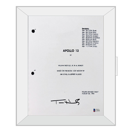 signed framed script apollo 13 autographed tv
