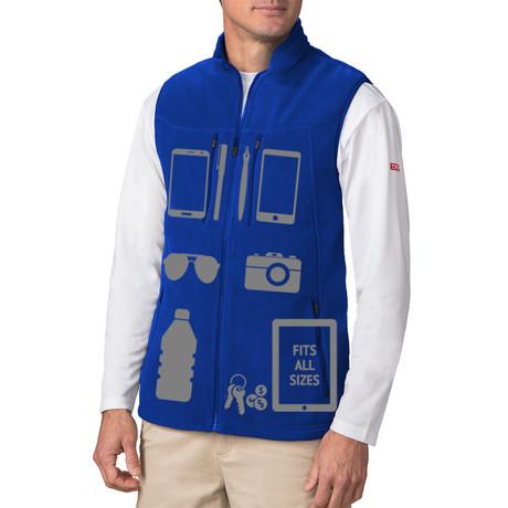 Men's Fireside Fleece Vest // Royal Blue (XS)