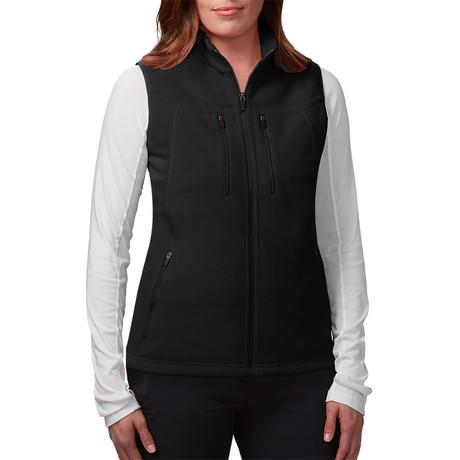 Women's Fireside Fleece Vest // Black (XS)