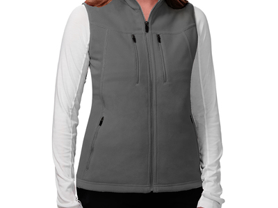 Experience luxurious warmth and total organization with the Fireside Fleece Vest. Featuring 15 pockets with room for your cell phone, iPad and other essentials, the Fireside Fleece's versatility allows for a wide range of comfortable activity. Whether working in the office or going for a hike, a combination of soft materials and quick drying technology traps and releases body heat appropriately so you stay comfortable throughout the day.
