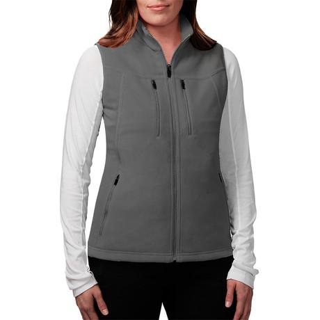 Women's Fireside Fleece Vest // Charcoal (XS)