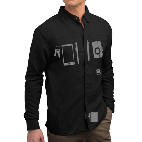 Men's TEC Shirt // Black (XS)