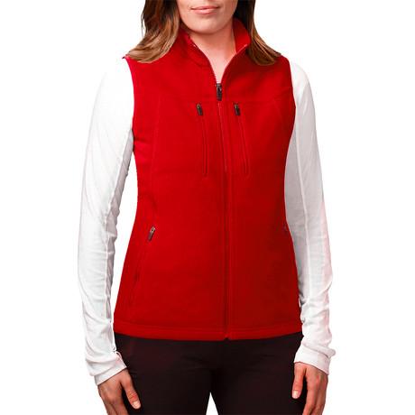 Women's Fireside Fleece Vest // Flame Red (XS)