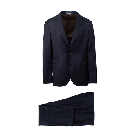 Zane Micro-Check Wool 3/2 Button Suit // Blue (Euro: 46)