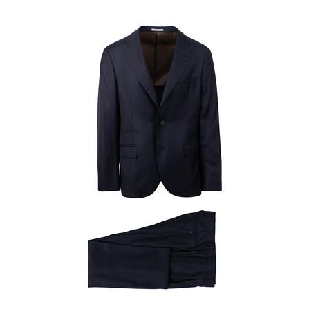 Zane Micro-Check Wool 3/2 Button Suit // Blue (Euro: 44)