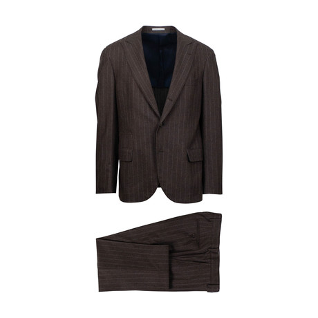 Adam Cashmere Blend 3/2 Button Suit // Brown (Euro: 46)