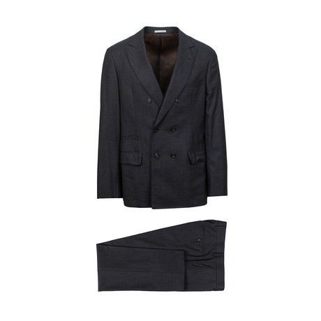 Kael Wool Double Breasted Suit // Gray (Euro: 46)