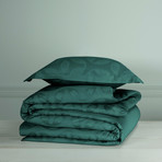 Motion Quilt Cover Set // Atlantic + Dark Green (Twin)