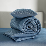 Birds Duvet Cover Set // Nightshadow Blue +Midnight Blue (Twin)