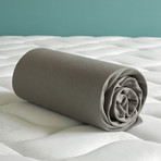 """Case Jersey Fitted Sheet // Taupe Steeple (Full/Corner height 12"""")"""