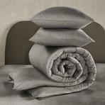 Tarbot Duvet Cover Set // Charcoal Gray + Dark Gray (Twin)
