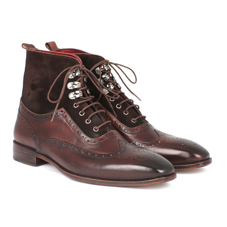 Ankle High Wingtip Boot // Brown (Euro: 37)
