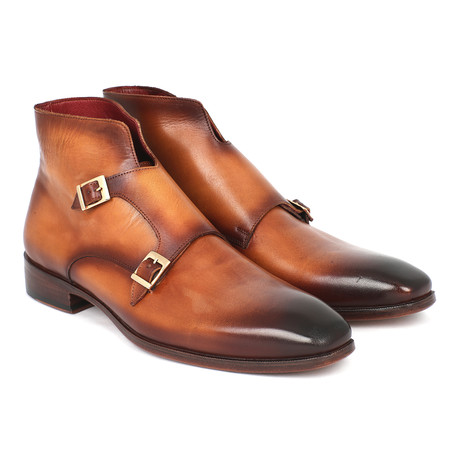 Double Monkstrap Ankle High Boot // Brown (Euro: 37)