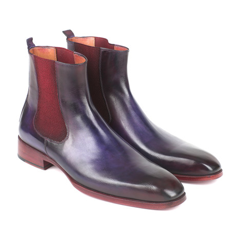 Chelsea Boots // Navy + Purple (Euro: 37)