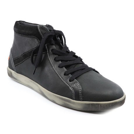 Taggart Smooth Lace-Up Sneaker // Black (Euro: 40)