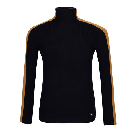 Holden Jersey Sweater // Navy + Tan (M)
