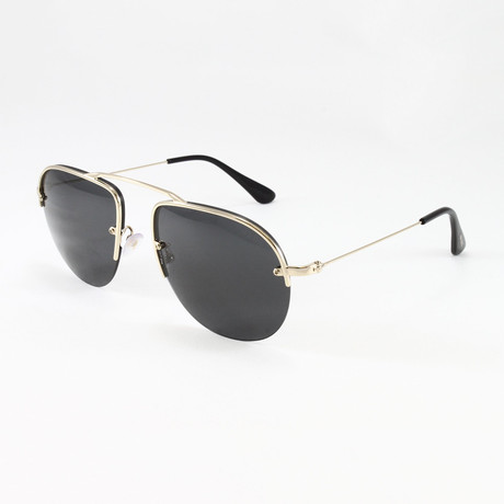 Prada // Men's PR58OS Sunglasses // Pale Gold