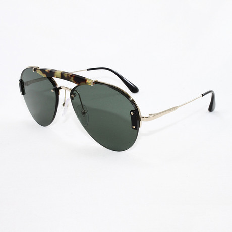 Prada // Men's PR62US Sunglasses // Medium Havana + Pale Gold