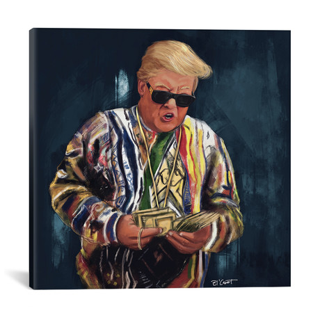 """Biggie Trump // El'Cesart (18""""W x 18""""H x 0.75""""D)"""