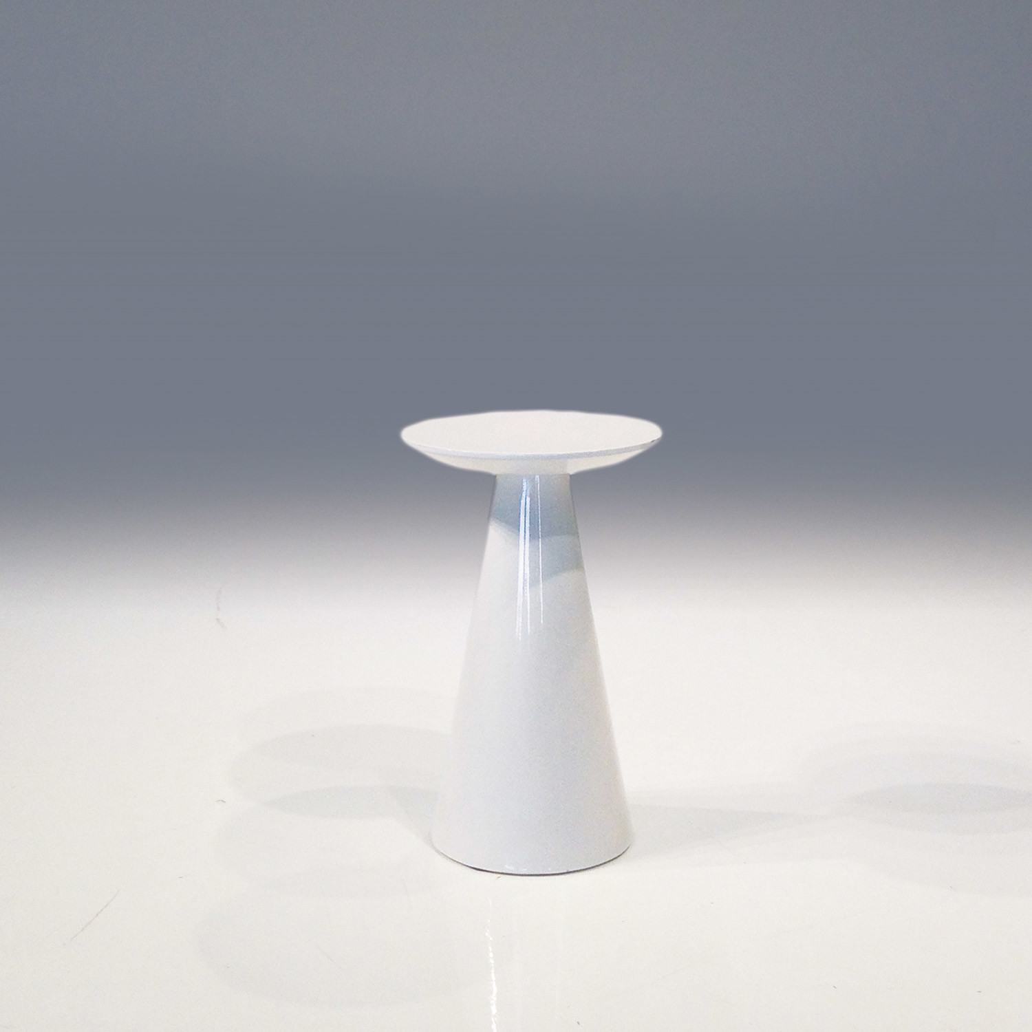 """Tower // 16"""" Small End Table // High Gloss White"""