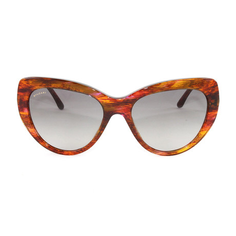 Bulgari // Women's BV8143B Sunglasses // Brown + Orange