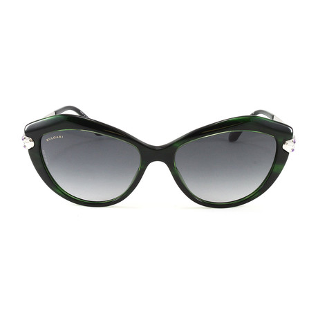 Bulgari // Women's BV8186KB Sunglasses // Green Polarized