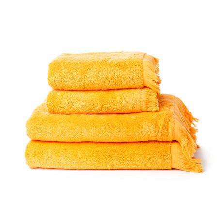 Face + Bath Towels // Set of 4 // Orange