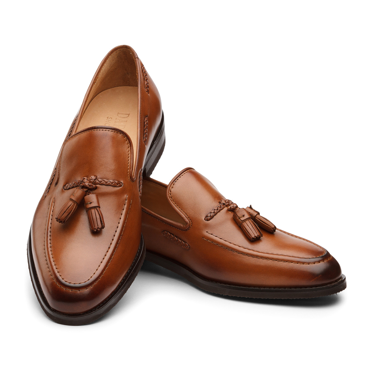 Dapper Tan Kitchen: Collin Classic Braided Tassel Loafer Leather Lined Dress