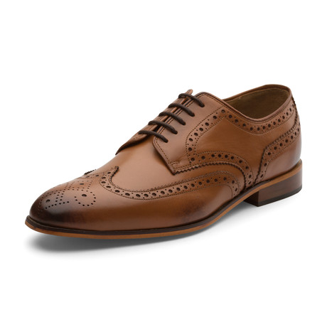 Dillan Oxford Leather Lined Shoes // Tan (UK: 6)