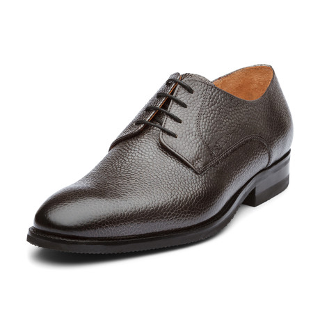 Brent Oxford Leather Lined Shoes // Grey (UK: 6)