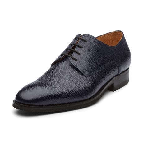 Jimmy Oxford Leather Lined Shoes // Navy Blue (UK: 6)