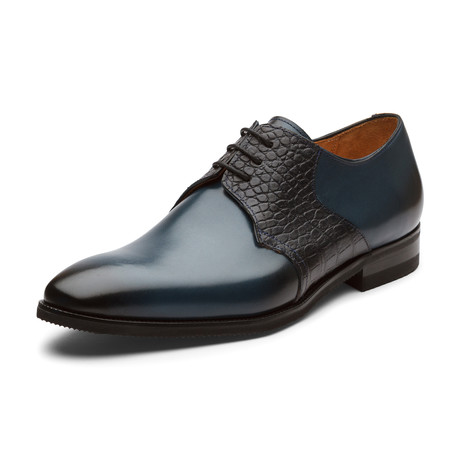 Abdullah Oxford Leather Lined Shoes // Navy Blue (UK: 6)