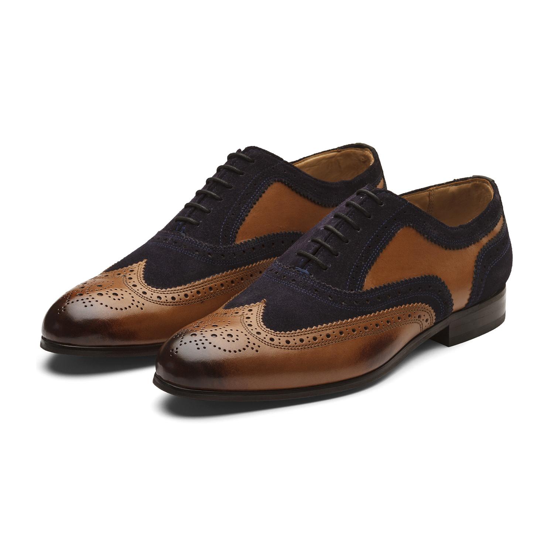 Dapper Tan Kitchen: Keenan Oxford Leather Lined Shoes // Tan + Navy (UK: 6