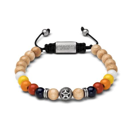 Houston Astros Macrame Bracelet // Round