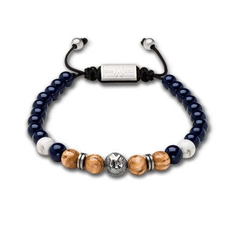 New York Yankees Bracelet // Wood + Navy Steel