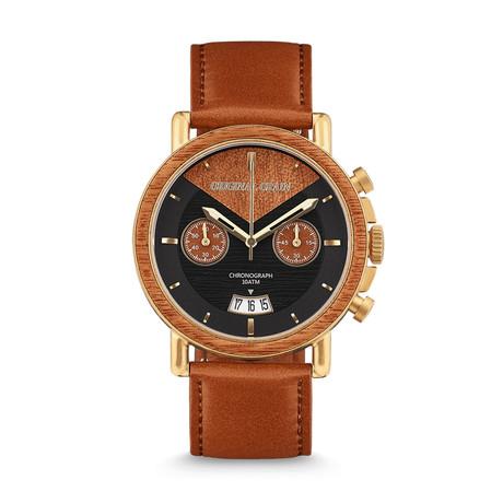 Original Grain Cognac Chronograph Quartz // OG-CH-AG-MH-L