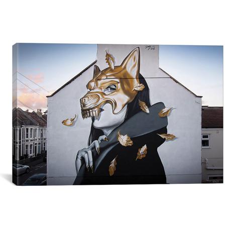"""Gold Riding Hood // Jody Thomas (18""""W x 26""""H x 0.75""""D)"""
