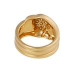 Vintage Van Cleef & Arpels 18k Yellow Gold Diamond Wave Ring // Ring Size: 5.25