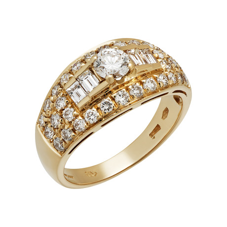 Vintage Bulgari 18k Yellow Gold Diamond Ring // Ring Size: 6.25