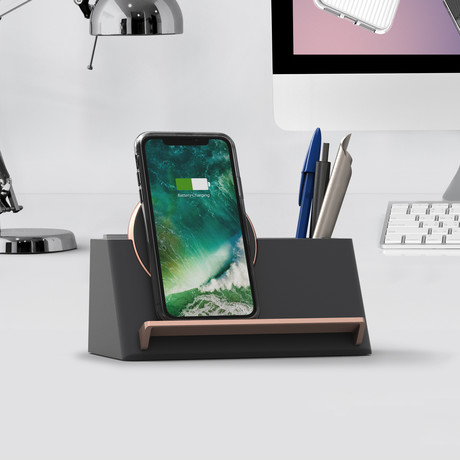 Halo Box Wireless Charger (Warm Gray)