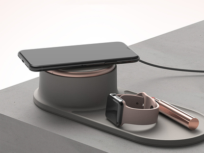 Halo_Tray_Wireless_Charger_Charcoal_Black