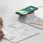 Halo Tray Wireless Charger (Warm Gray)