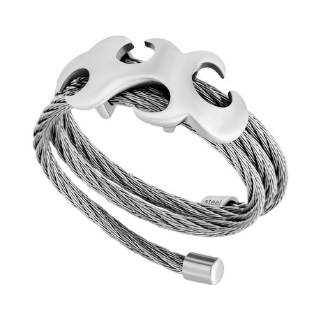 Charriol // Tattoo Stainless Steel Cable Ring // Ring Size: 7